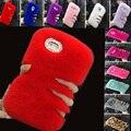 Novo 2017 lã quente quente fluffy villi fur plush bling case cobrir para huawei honor 4x fundas carcasas coque capa da pele senhora vermelho + Gift