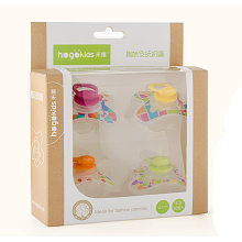 4 pieces baby silicone bpa free character pacifiers bebe pacifiers Nipples Teether Baby Pacifier Care four stages