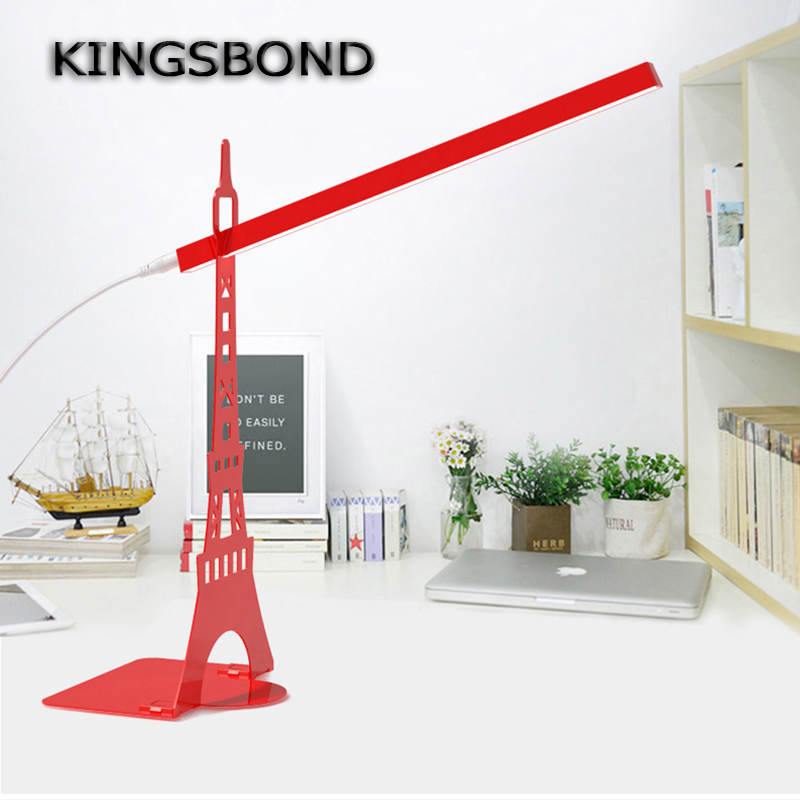 Eiffel Tower Touch Dimmer USB LED Desk Lamp LED Fation Eye protection lamp DIY for Bookshelf Reading Lamp Table Lamp