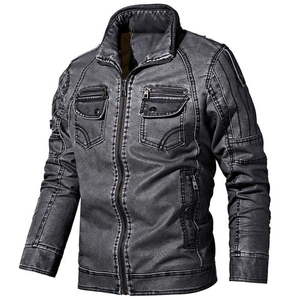 Image 3 - Winter men jacket High quality brand  casual Outerwear Pu leather jacket men Warm fleece men jacket coat brand clothing