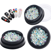 Japanese Explosive Nail Jewelry Section AB Transparent Multi-size Multi-color Diamond for 3D Nail Art Decorations Wholesale(China)