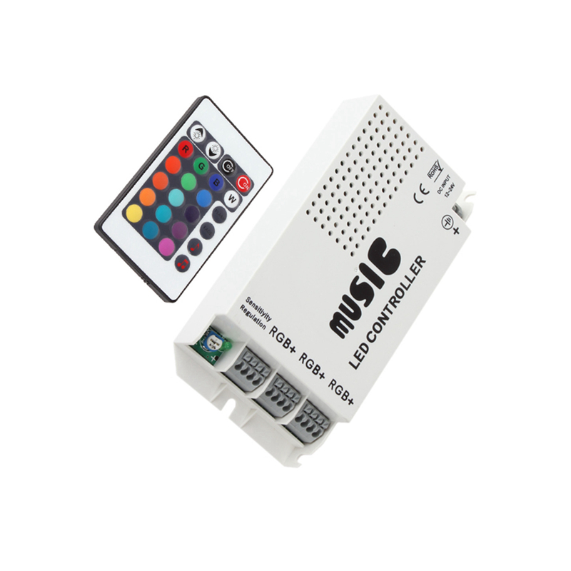 Music Sound Control Wireless IR Remote Control LED RGB 12-24V 24 Keys Led Controller Dimmable For 3528 5050 RGB LED Strips