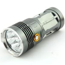 12000 LM High Power Gray Color 8 x CREE XML XM-L T6 3 Mode LED Flashlight Torch Hiking Lamp Light