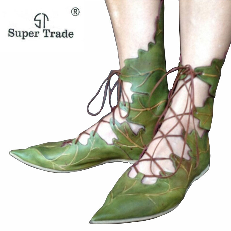 Ladies Shoes Flats Women Flat hot ladies flat shoes European and American stations individual leaves dress with pointed shoes 2017the mostfashion trends european and american brands genuine flowers ladies luxury short shoes club sexy women s shoes