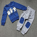 2-7Y 2pcs Outfit Sets Autumn Baby Clothes Kids Boys Finger Games Tracksuits Long Sleeve Tops+ Long Pants