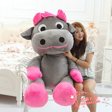 huge plush cow toy creative new gray cow doll gift about 140cm y0017