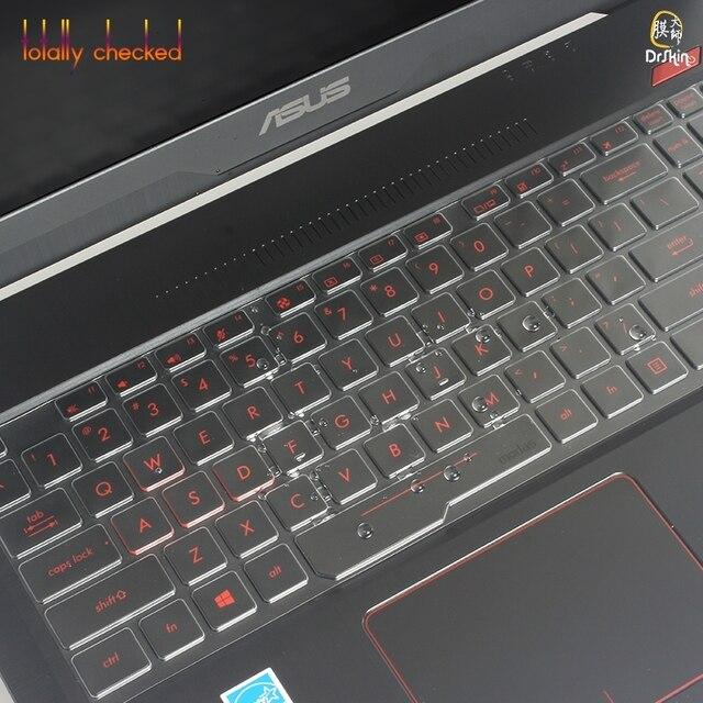 "Ultra thin TPU osłona na klawiaturę laptopa pokrowiec ochronny ze skóry dla asus ROG FX503VD FX503VM ROG STRIX GL703VD GL703VM 17 ""ROG 15.6 cal"