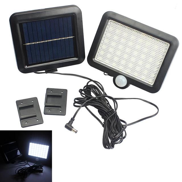 56 Led Outdoor Solar Wandlamp Pir Motion Sensor Solar Lamp Waterdichte Infrarood Sensor Tuin Licht Voor Parken/Beveiliging straat