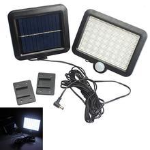 56 led ao ar livre luz de parede solar pir sensor de movimento lâmpada solar à prova dwaterproof água sensor infravermelho jardim luz para parques/segurança rua