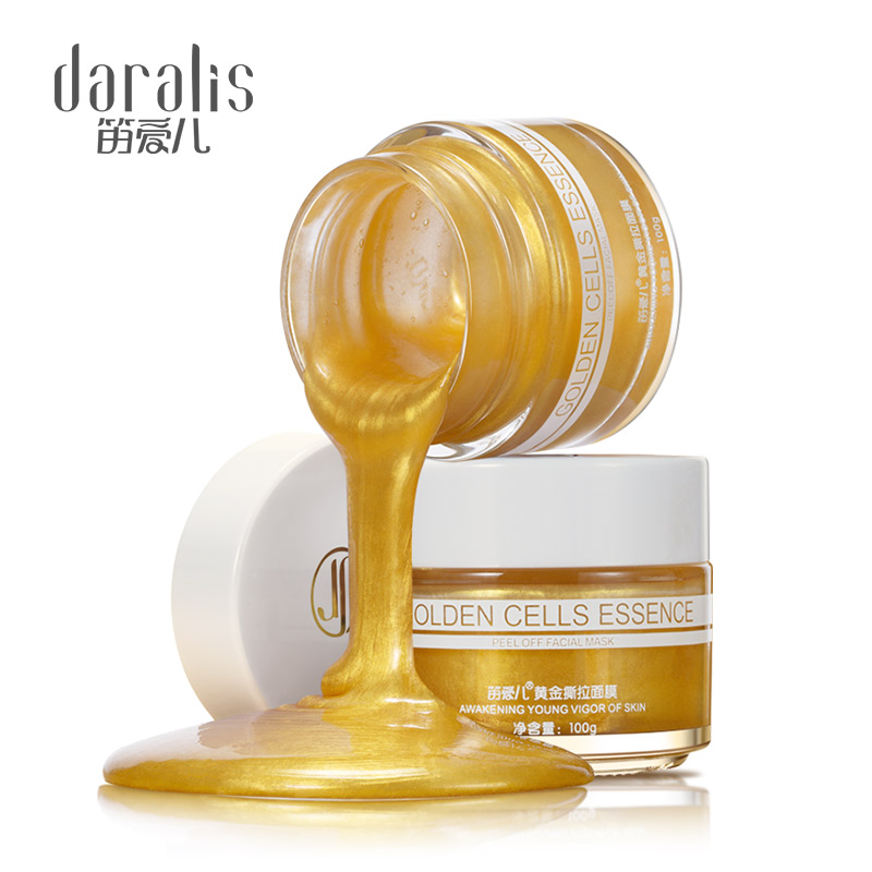 100g 24K Gold Peel Off Face Mask Collagen Facial Mask Moisturizing Blackhead Remover Pore Strip Peeling Nose Mask for Skin Cares Facial mask