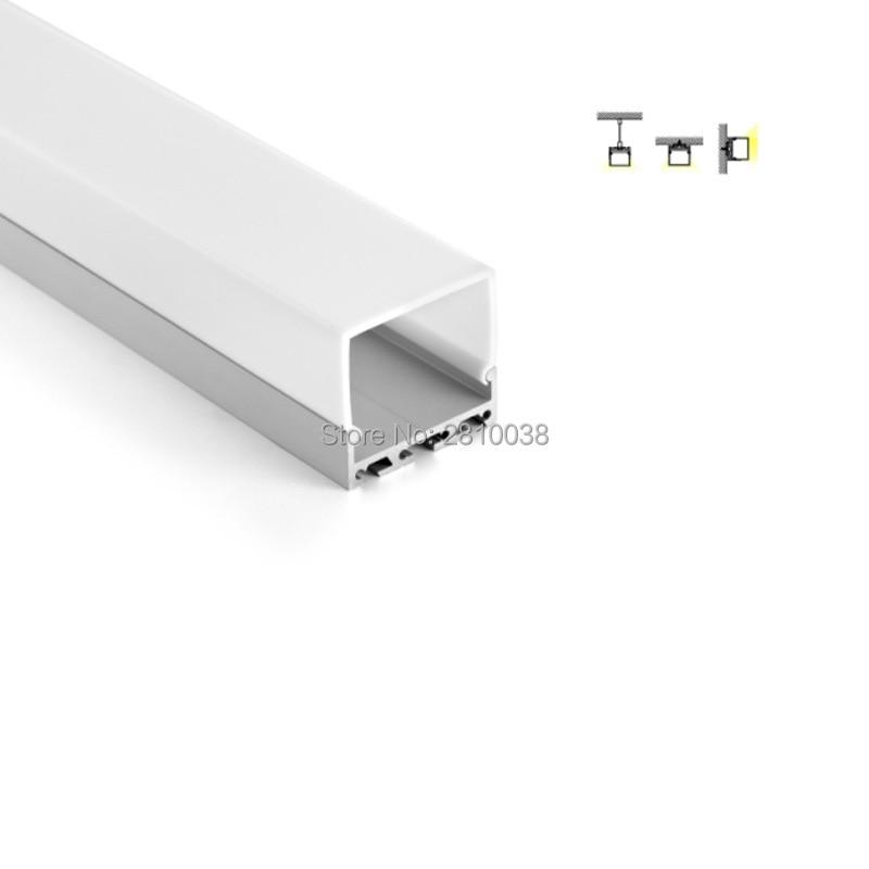 100 x conjuntos de 2 m lot perfil de aluminio conduziu a iluminacao do escritorio 42mm