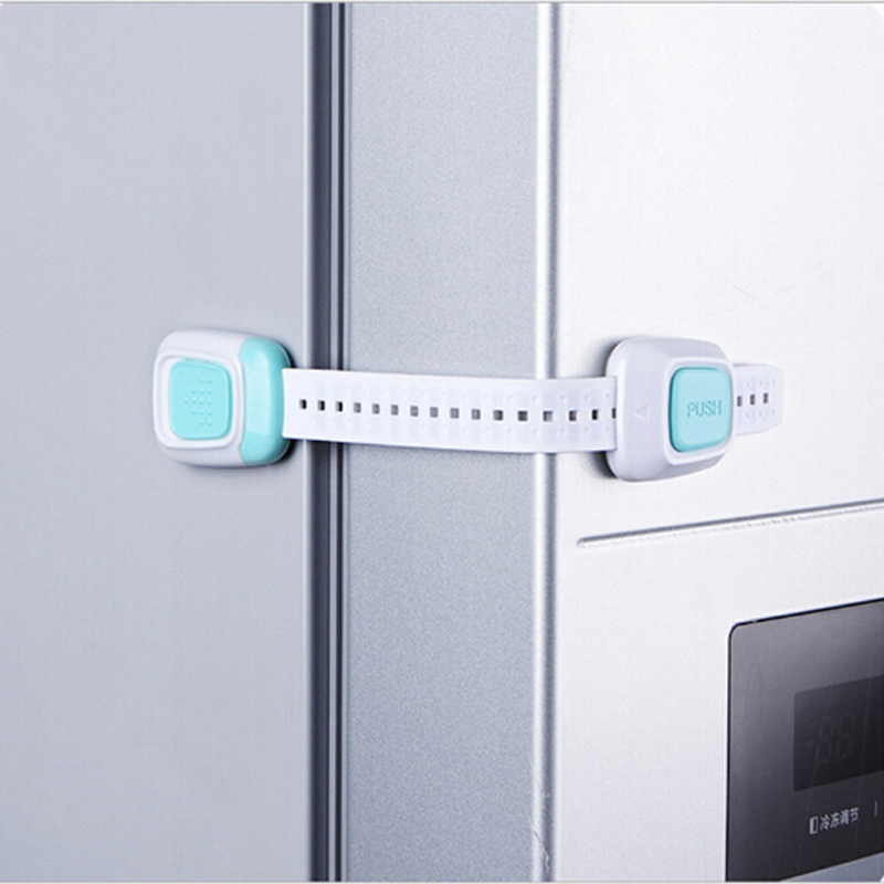 2019 1Pcs  Baby Double Button Drawer Door Lock Children Kids Safety Care Lock For Cabinet Cupboard Washer Refrigerator Toilet