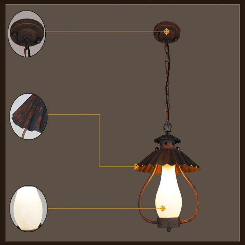 Wrought Iron Pendant Lights Project Brand Design Bar Cafe Suspension