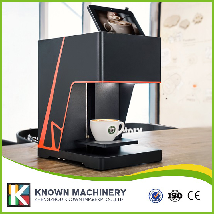 2017 New Design edible food cake bread chocolate coffee 3D printer with Best Quality digital inkjet printing machine coffee printer with edible ink