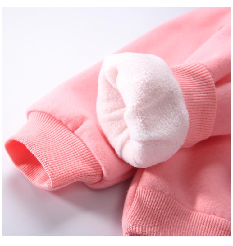 Cute Ball Ice Cream Girls Sweatshirt Autumn Winter Thick Warm Kids Sweatshirts for Girl O-neck Long Sleeve Children Top Clothing 10