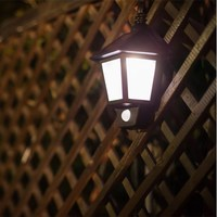 Solar Power LED Wall Mount Light LED Lamp Outdoor Waterproof Light Garden Landscape Path Way Lamp