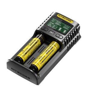 Image 3 - Nitecore UM2 USB ثنائي الفتحة شاحن QC الدوائر الذكية التأمين العالمي ليثيوم أيون AA 18650 14500 21700 شاحن بطارية