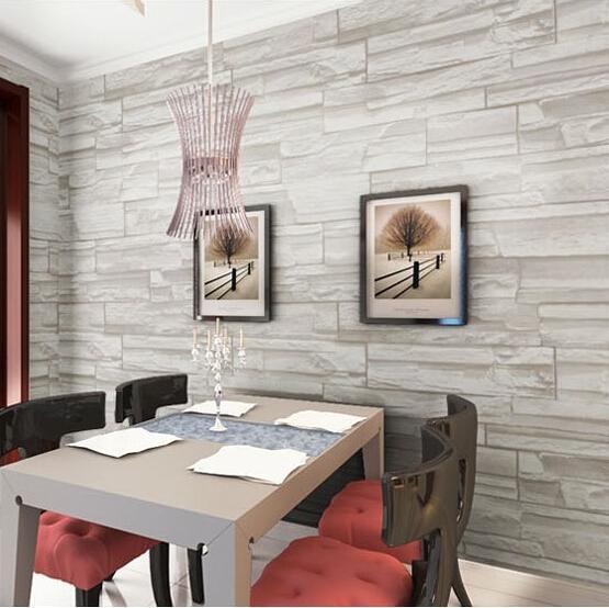 Comedor de estilo chino del papel pintado 3D piedra diseño de ...