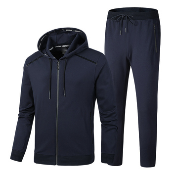 Spring and Autumn Men's Hooded Jacket Fashion Suit Men Extra Large L-5XL 6XL 7XL 8XL 9XL Sportswear Casual Set Red Blue Black