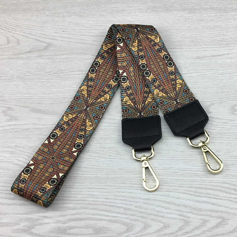 5CM Width Colorful Shoulder Straps Replacement Handbags Handles Belts Gold Buckle Hardware Purses Bag Accessories A