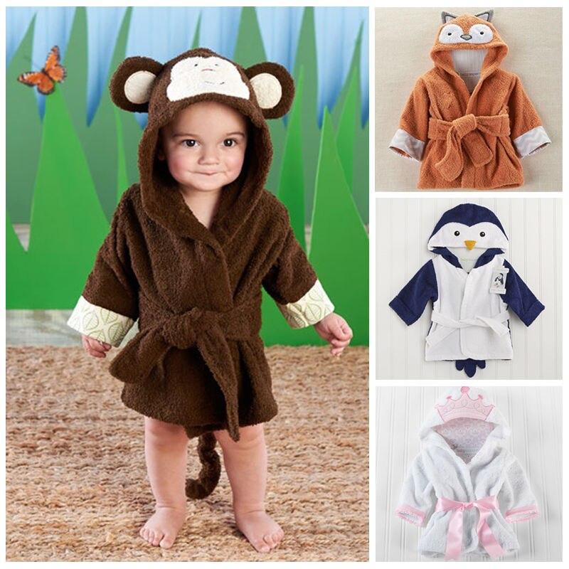 676a505b0b Children Cartoon Robes Animal Boys Girls Flannel Pajamas sleepwear Baby  Bathrobe Romper kids Home wear Hooded