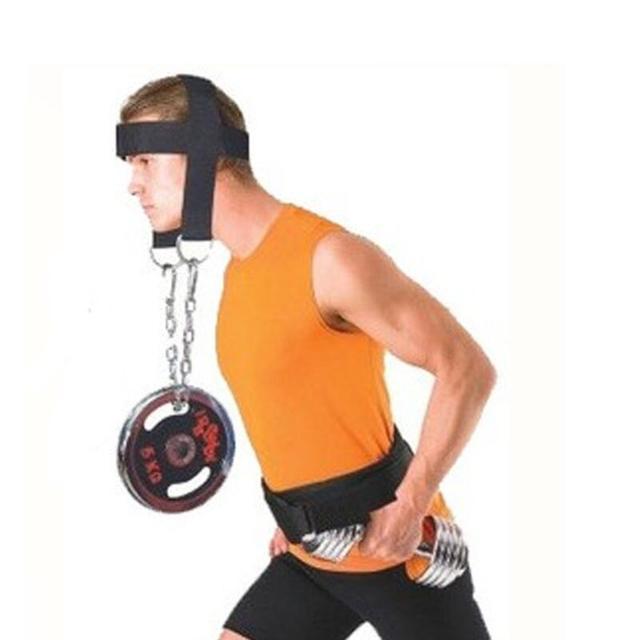 Fully Adjustable Nylon Strap Head Harness Belt Neck Weight Lifting