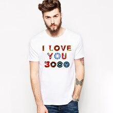цена на I Love You 3000 Times tshirt Marvel super hero Iron Man Tony Stark t-shirt modal summer men t shirt avengers Camiseta hombre top