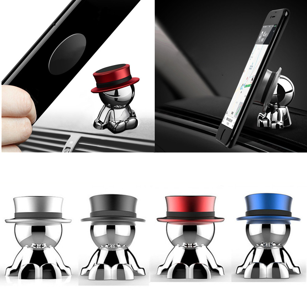 360 Degree Universal Magnetic Car Phone Holder Support Mobile Phone Holder For IPhone 6 Samsung S8 Magnet Mount Holder GPS Stand