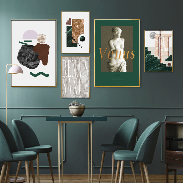 Abstract Vintage Europe Venus Prints Art Wall Canvas Paintings