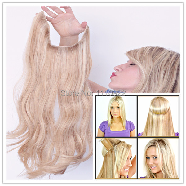 Cheap Remy Brazilian Hair No Clips Halo Flip In Hair Extensions 1pc