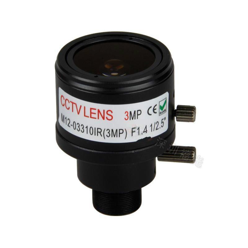 3.0 Megapixel fixed iris HD CCTV camera lens 3.3-10mm varifocal