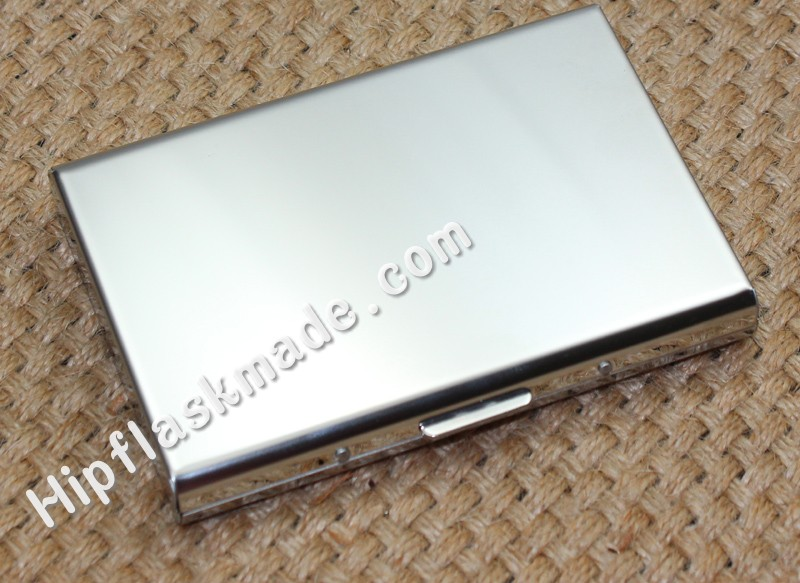 High quality 100 stainless steel mirror credit card holder credit card case