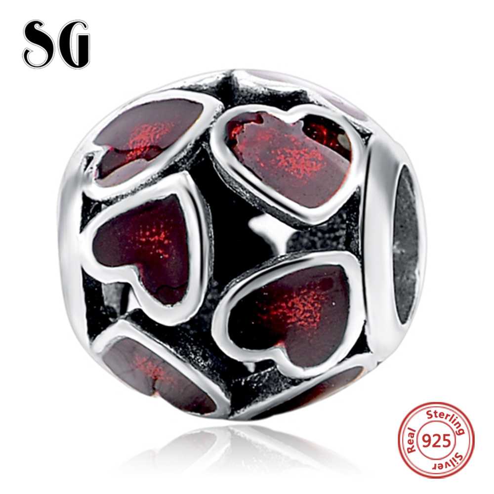 Silver Galaxy Love Heart Round Shape Beads For Women Fit Authentic Pandora Bracelet Charms Silver 925 Original Fashion Jewelry