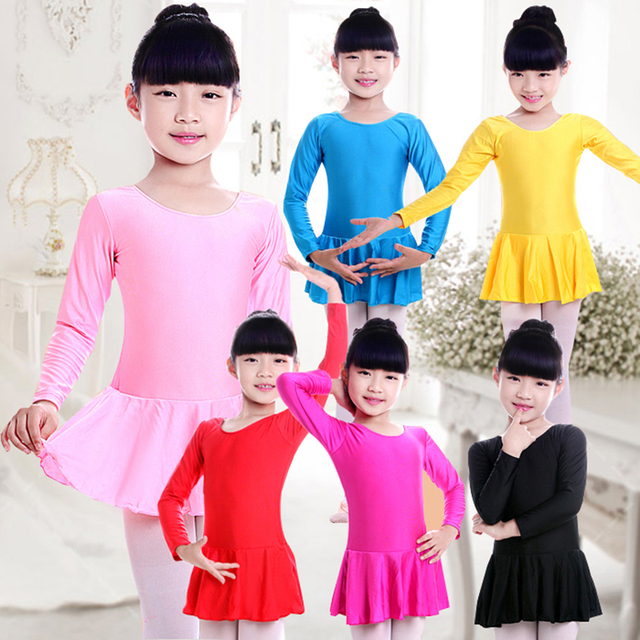 329692f0ac7d Children Practice Dance Clotng Long Sleeved Gymnastic Leotards For ...