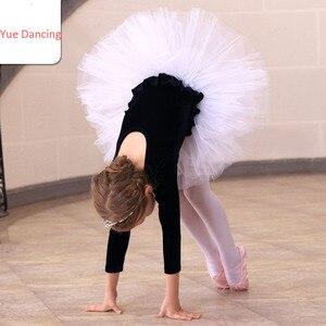 Image 5 - Uzun Kollu Kadife Bale Elbise Kız Bale Dans Tutu Balerin Dans Elbise Siyah/Pembe Kuğu Gölü Kostüm Kızlar Için çocuklar