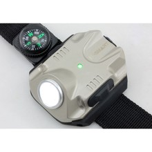 New Wrist Light LED 240 Lumen Bright Waterproof Rechargeable Watch Shape Flashlight Torch Lights for Car Outdoor Running(China)