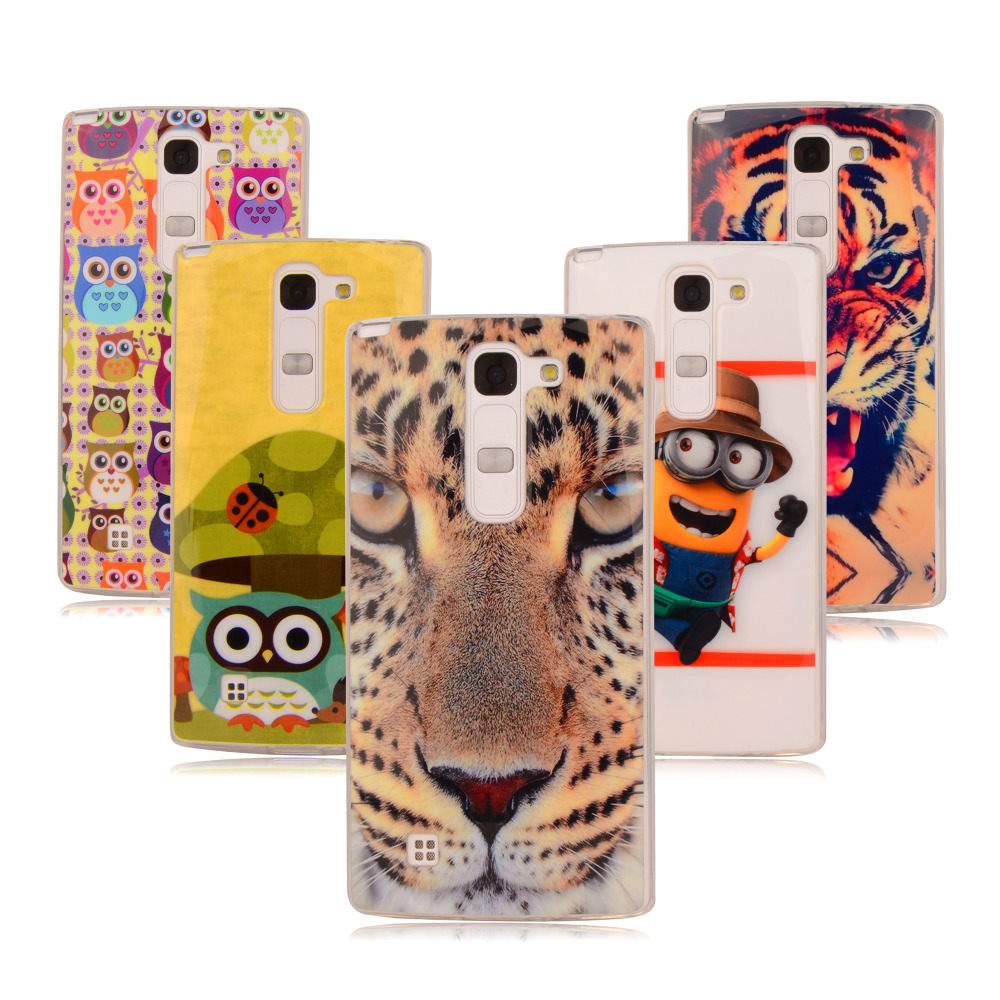 Fundas For lg g4C case silicon soft TPU cover lion flower case For LG Magna C90 h502f For lg G4C G4 Mini H525N 5.0