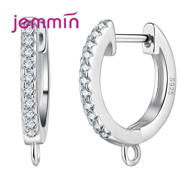 Jemmin Sterling Silver Findings Accessory B Lever Back Clips Ear Hooks Earrings For Components Handmade Jewelry