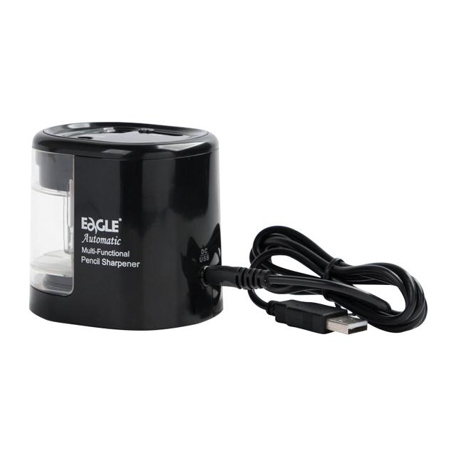 Double Hole Electric Pencil Sharpener Battery/USB Charge Auto Pencil Sharpener Pencil Cutting Machine School Supplies EG-5161