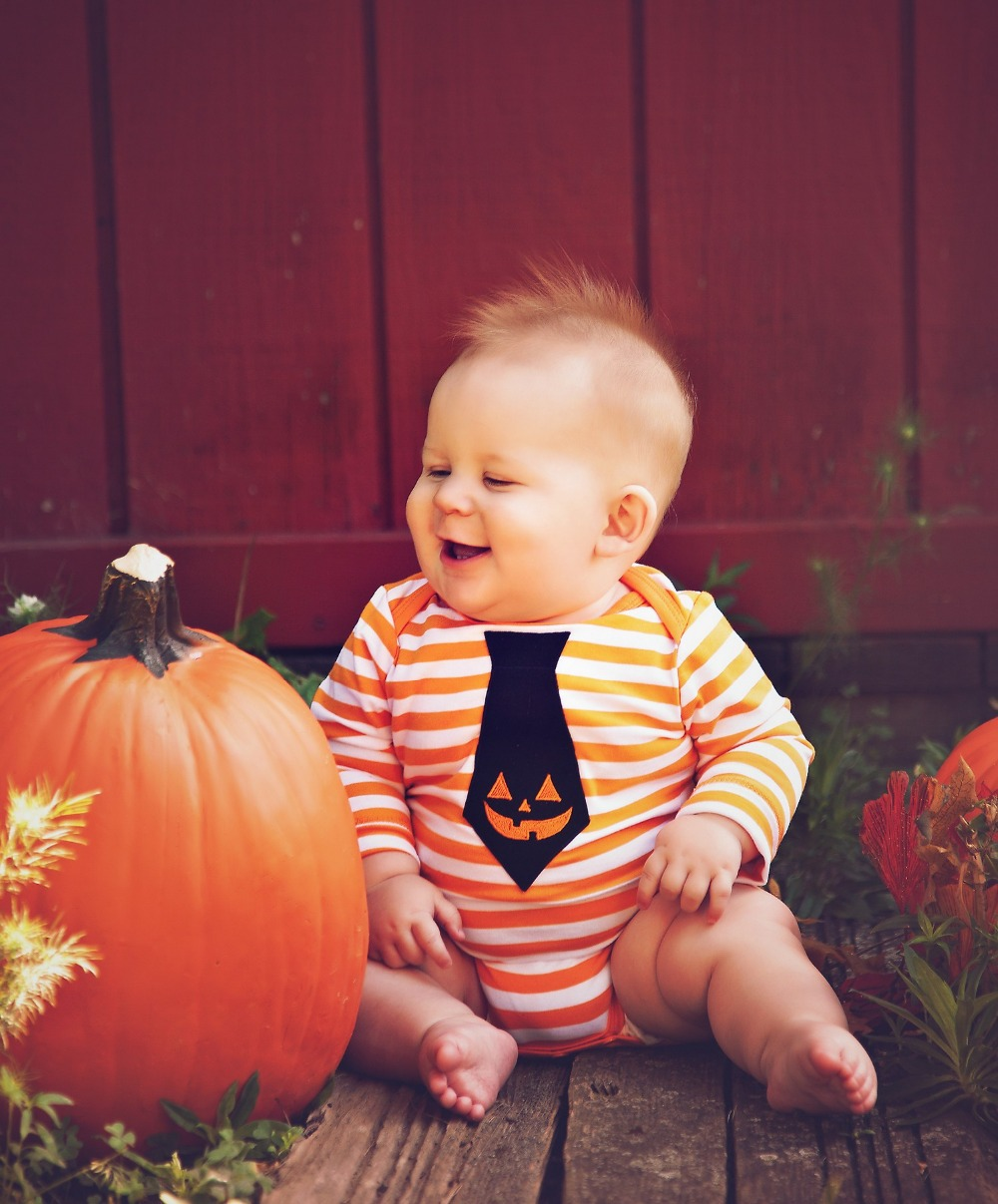 buy halloween baby clothes 1st pumpkin my first halloween pumpkin ghost orange white stripes halloween romper 0 12m from reliable