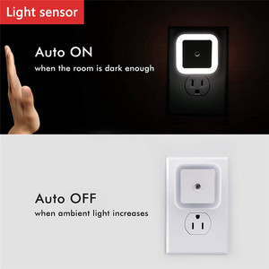 Image 5 - Nocna lampka ścienna kontrola czujnika światła indukcja energooszczędna lampka nocna do snu 110V 220V na pokój dziecięcy sypialnia korytarze