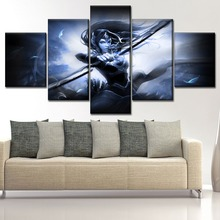 Mirana Dota 2 Painting On High Quality Canvas Printing Type And The Wall Decorative One Set 5 Piece Modular Picture Framework