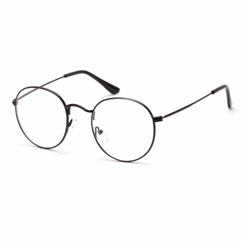 korean fashion glasses with clear lenses round metal frame glasses men vintage eyeglasses nerd glasses women