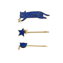 SANSUMMER Hairwear Temperament Hair Casual Starry Sky 2019 New Style Fashionable Cat Animal Lolita Sweet Girl Pin 5784