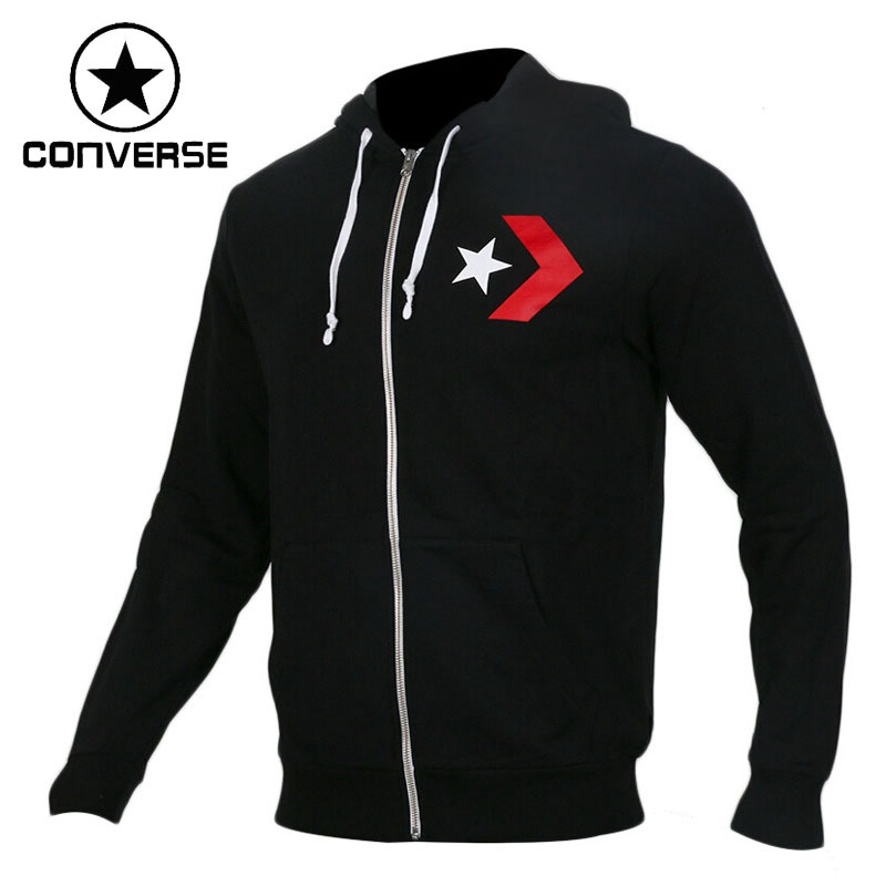 Original New Arrival 2018 Converse Star Chevron Graphic Full-Zip Hoodie Slim Fit Men's Jacket Hooded Sportswear цена