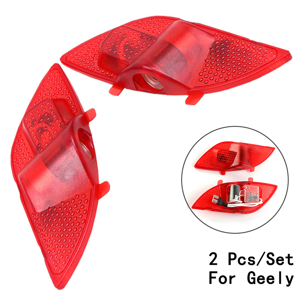 Ghost Shadow Projetor Lens Include LED Courtesy 12V 3W Step Door Courtesy Laser Only For Geely/Emgrand/EC7 2Pcs/Set With Logo