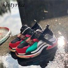 Kjstyrka 2018 Brand Designer high quality mixed colors tenis feminino women sneakers Breathable platform shoes espadrilles
