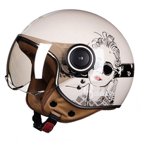 BEON Retro Motorcycle Helmet Vintage Cafe Racer Classic&fashion Chopper Crash Helmet Motorbike Moto Helmet For Motorcycle