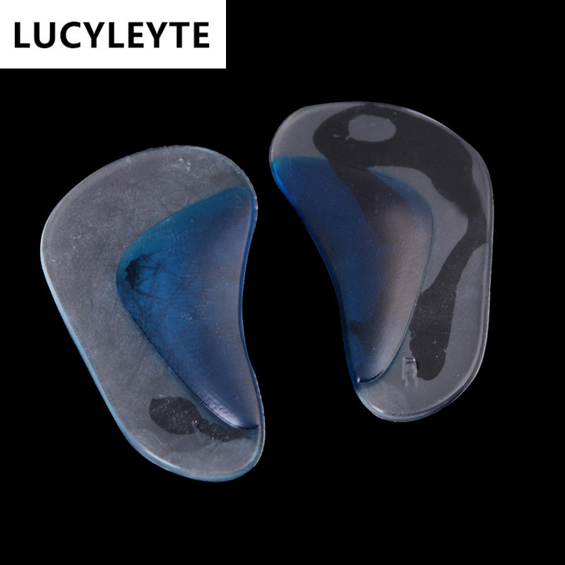 LUCYLEYTE foot pad flat foot eight feet correction insoles hind foot valgus correction pad is divided into size code
