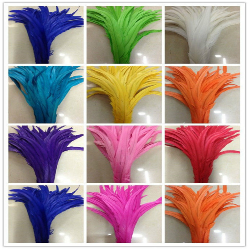 Wholesale 500pcs lot high quality 12 14 inches 30 35cm rooster tail feather DIY jewelry decoration
